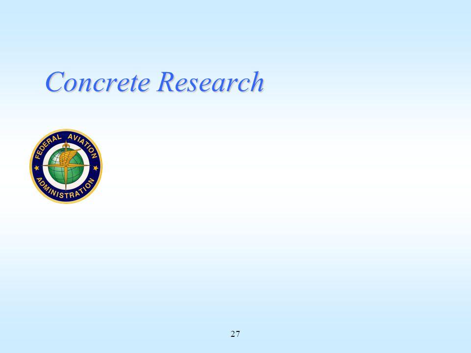 27 Concrete Research