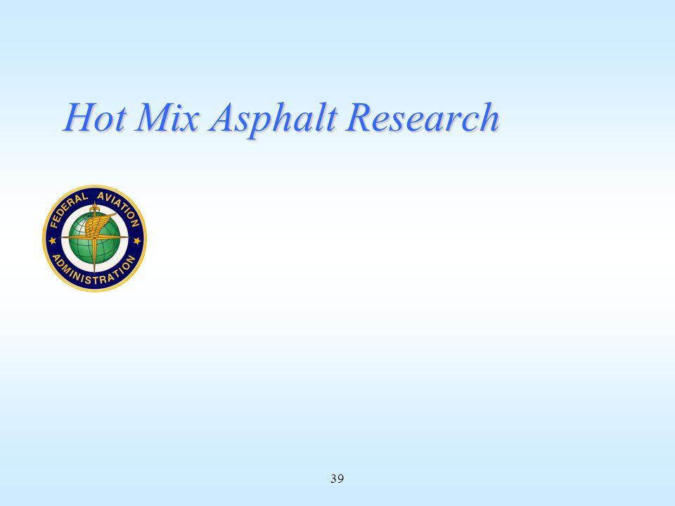 39 Hot Mix Asphalt Research