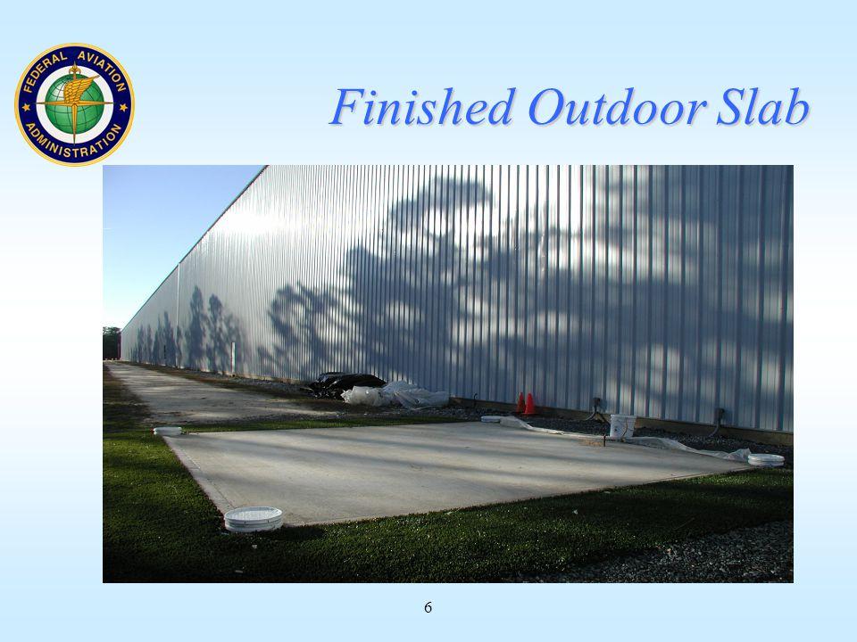 6 Finished Outdoor Slab