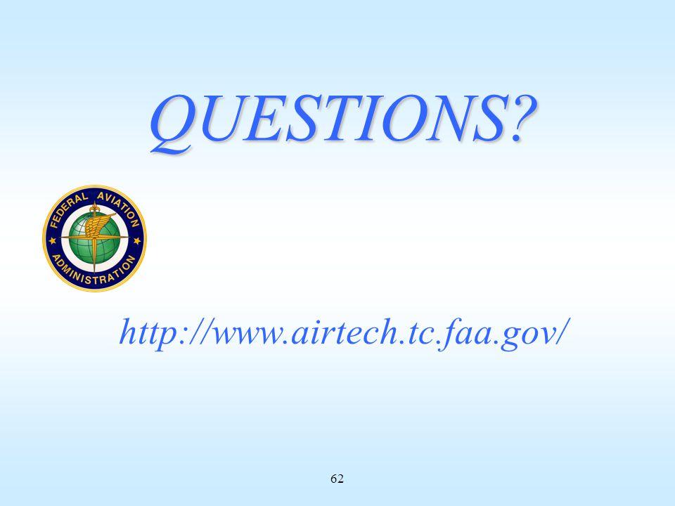 62 QUESTIONS http://www.airtech.tc.faa.gov/