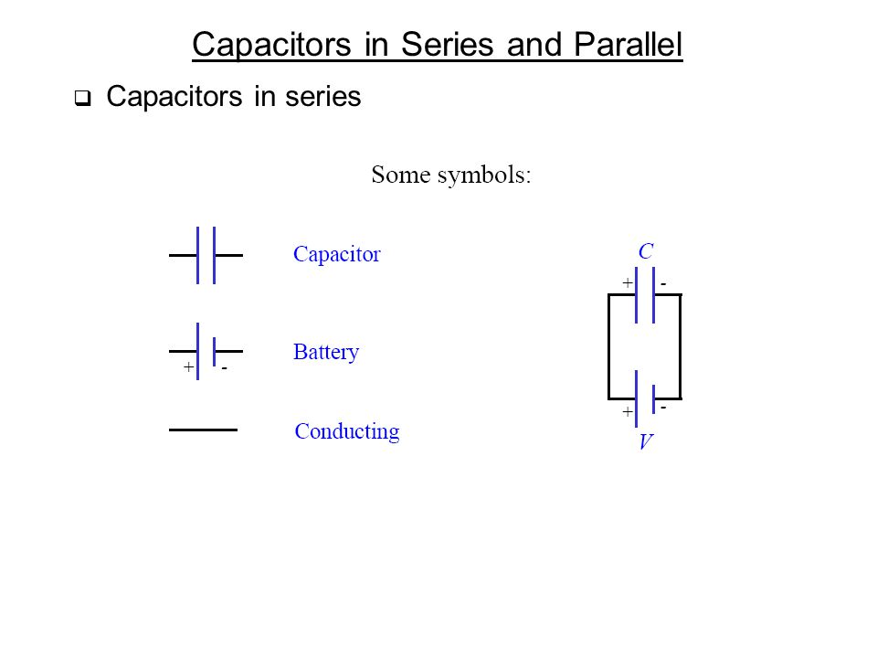 Capacitors in Series and Parallel  Capacitors in series
