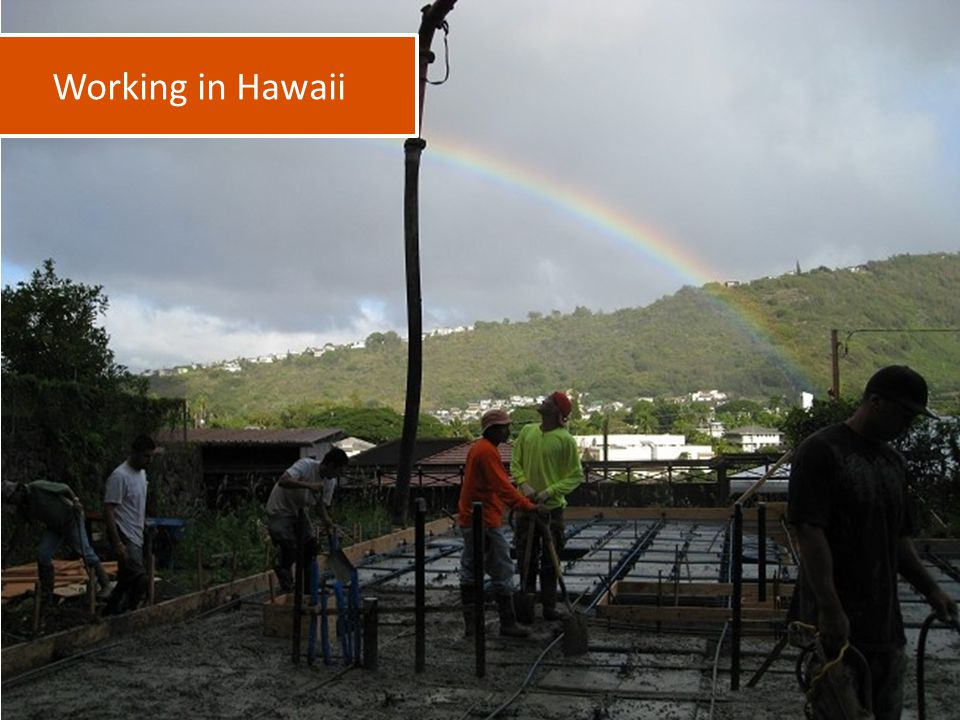 Working in Hawaii