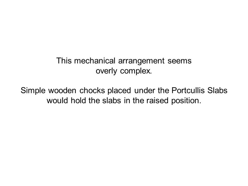 This mechanical arrangement seems overly complex.