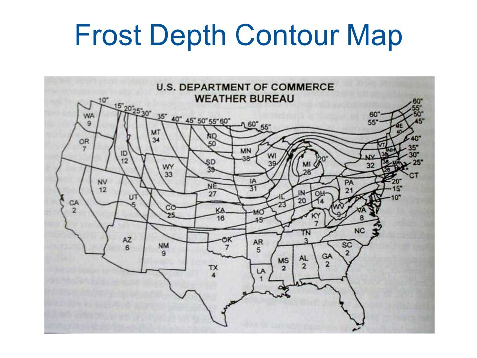 Frost Depth Contour Map