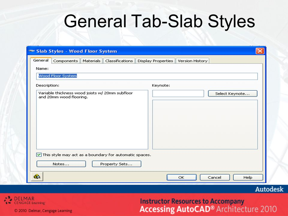General Tab-Slab Styles