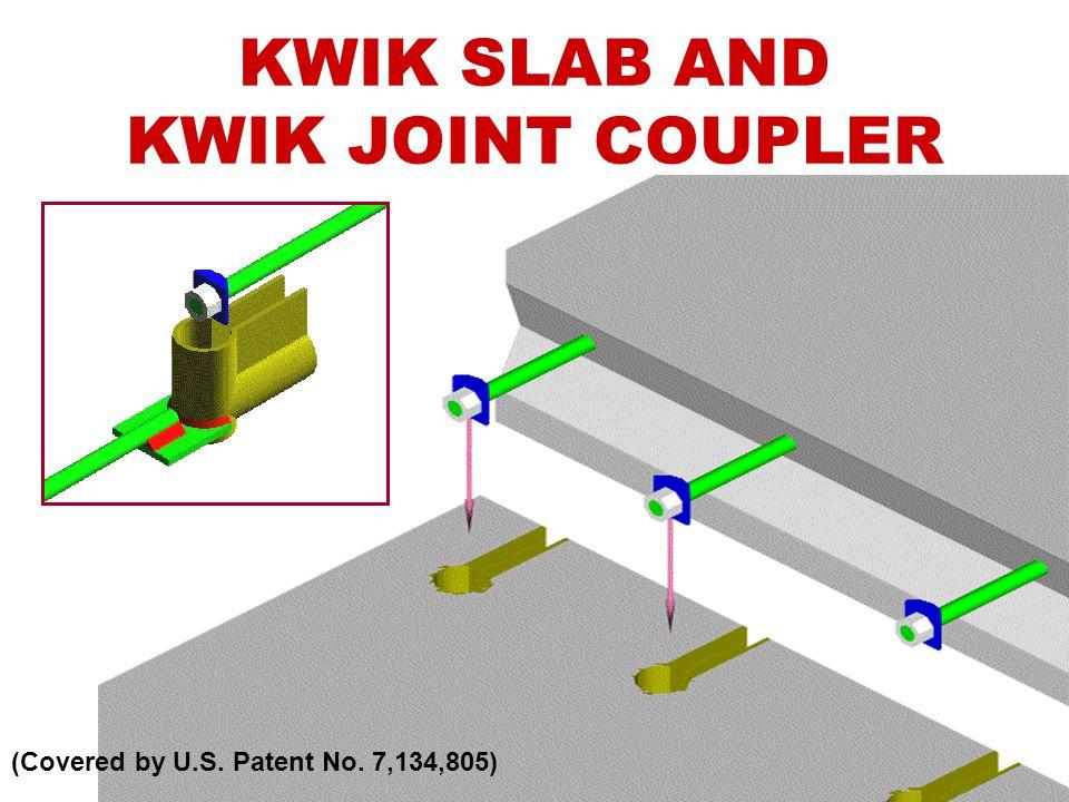 KWIK SLAB AND KWIK JOINT COUPLER