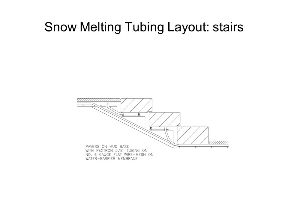 Snow Melting Tubing Layout: stairs