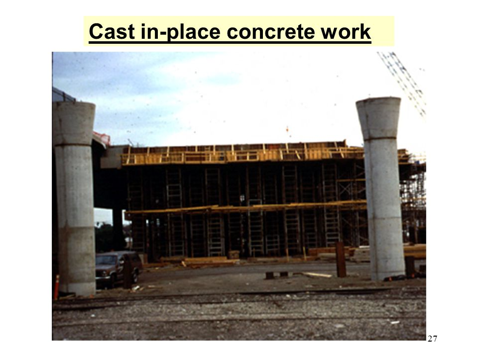 27 Cast in-place concrete work