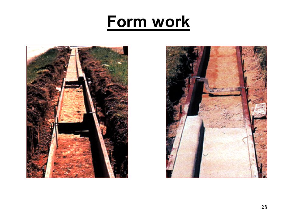 28 Form work