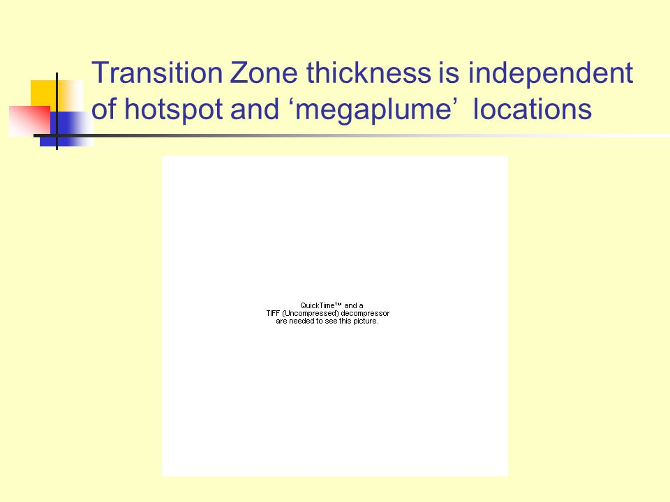 Transition Zone thickness is independent of hotspot and 'megaplume' locations