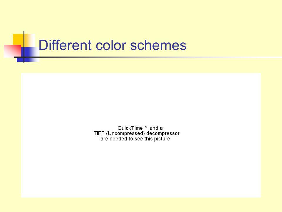Different color schemes
