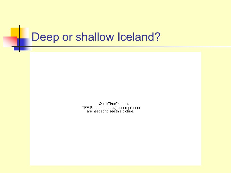 Deep or shallow Iceland