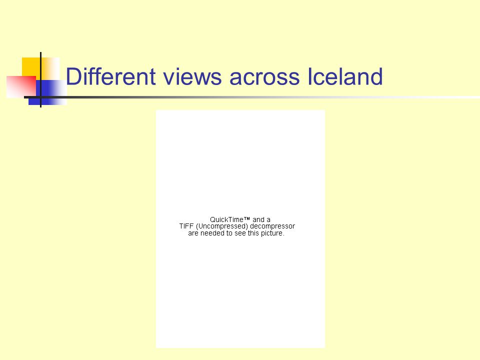 Different views across Iceland