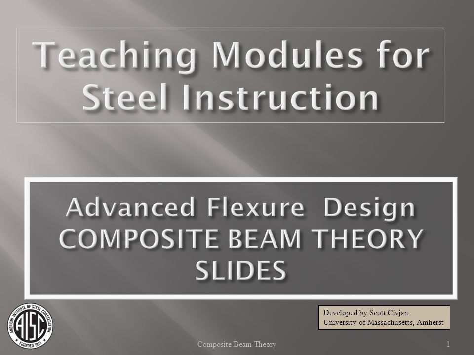 Composite Beam - AISC Manual 14th Ed Strength, Q n, for one shear stud Table 3-21 42