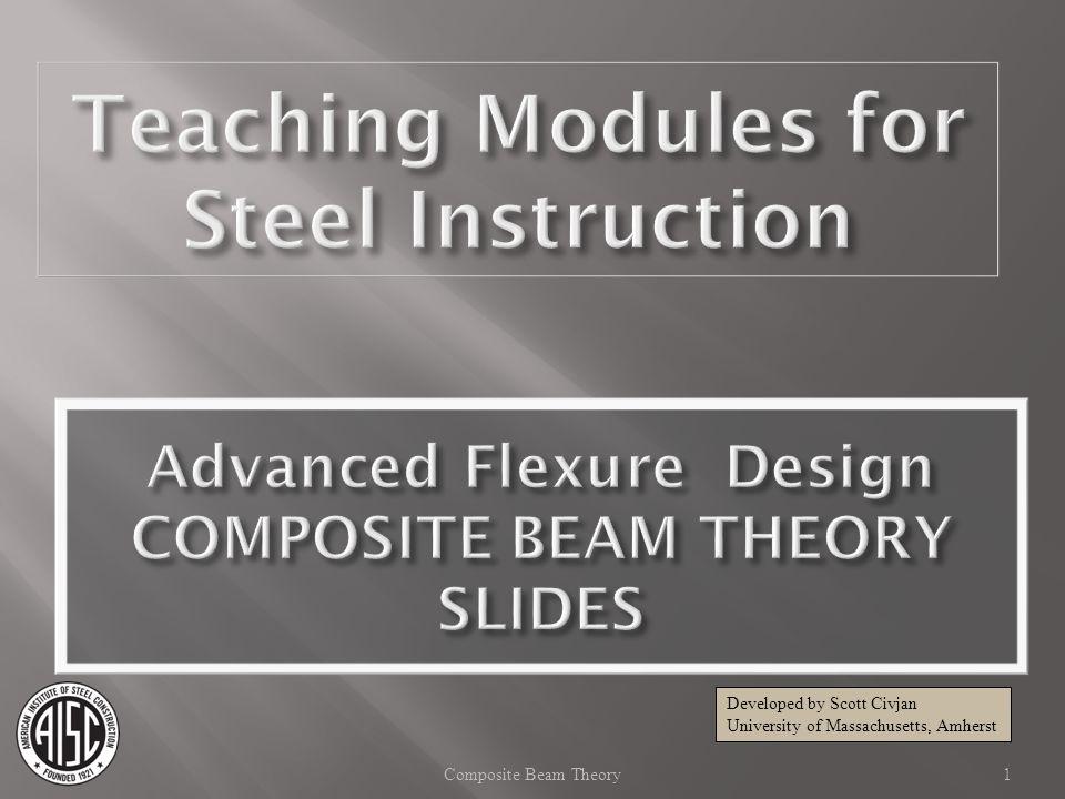 Composite Beam - AISC Manual 14th Ed Fully Composite Beam: Bending Strength 32