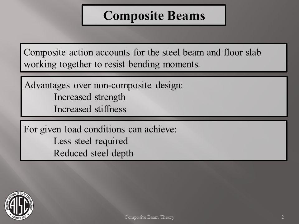 Composite Beam - AISC Manual 14th Ed  b = 0.90 (  b = 1.67) 33 Bending Strength