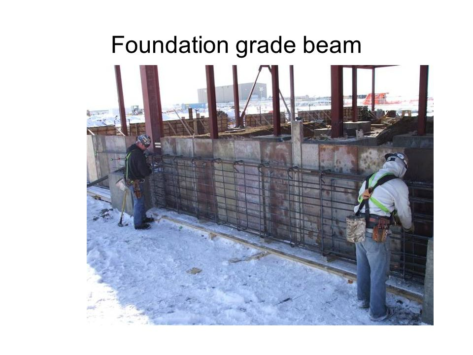 Foundation grade beam