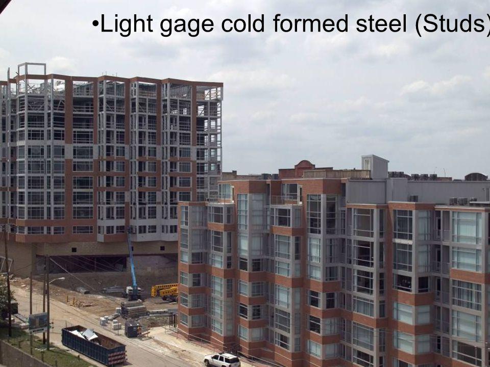 Light gage cold formed steel (Studs)