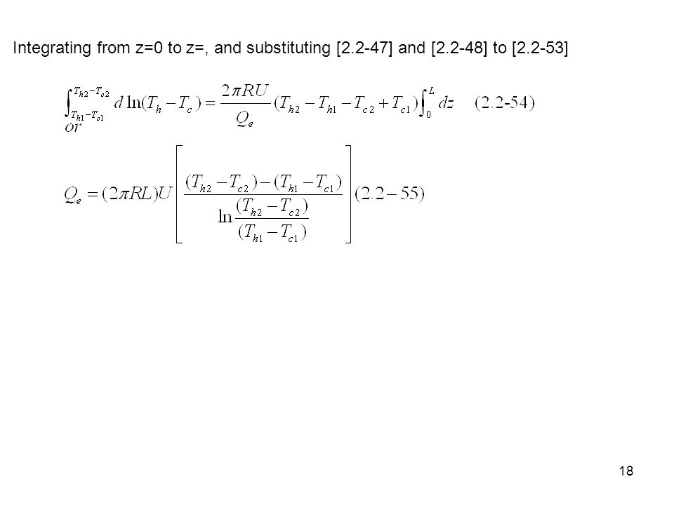 18 Integrating from z=0 to z=, and substituting [2.2-47] and [2.2-48] to [2.2-53]