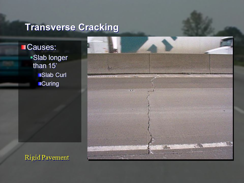 Rigid Pavement Corner Cracking