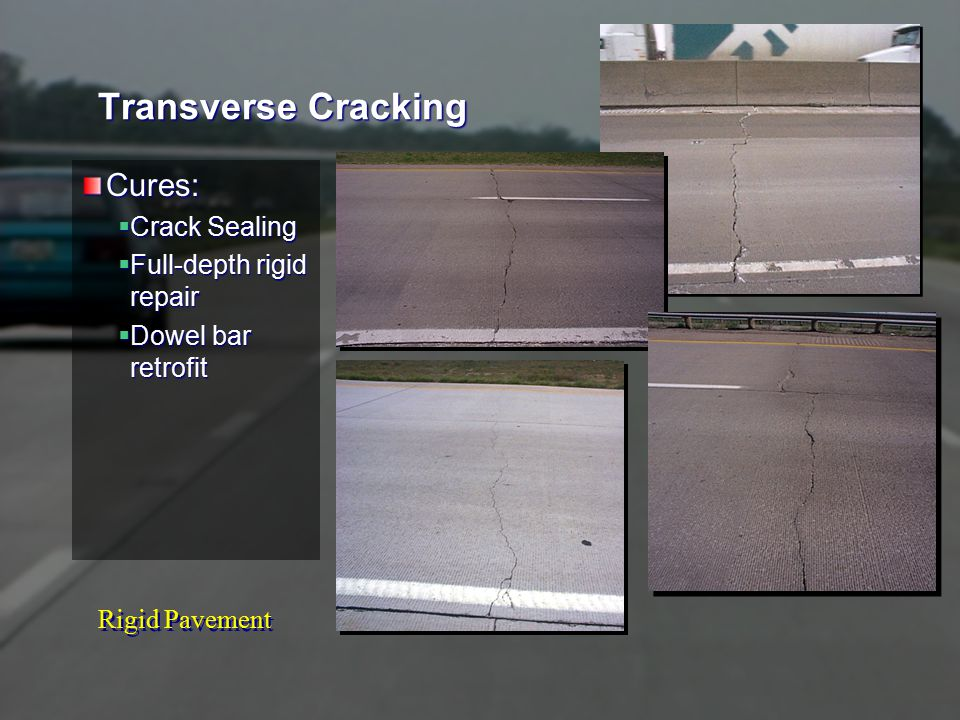 Rigid Pavement Shallow Reinforcing Cause:  Reinforcing Steel too close to surface