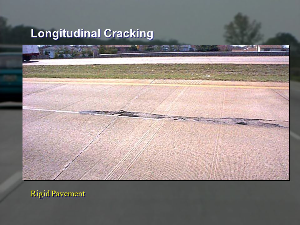 Rigid Pavement Longitudinal Cracking
