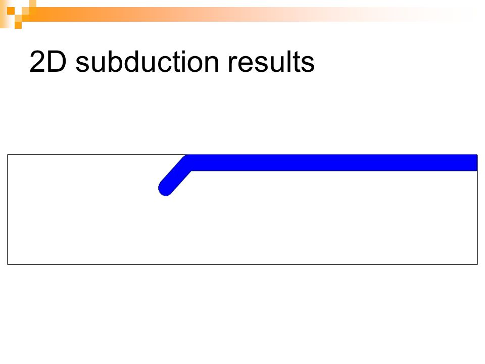 2D subduction results