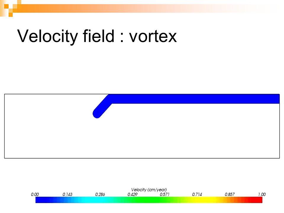 Velocity field : vortex