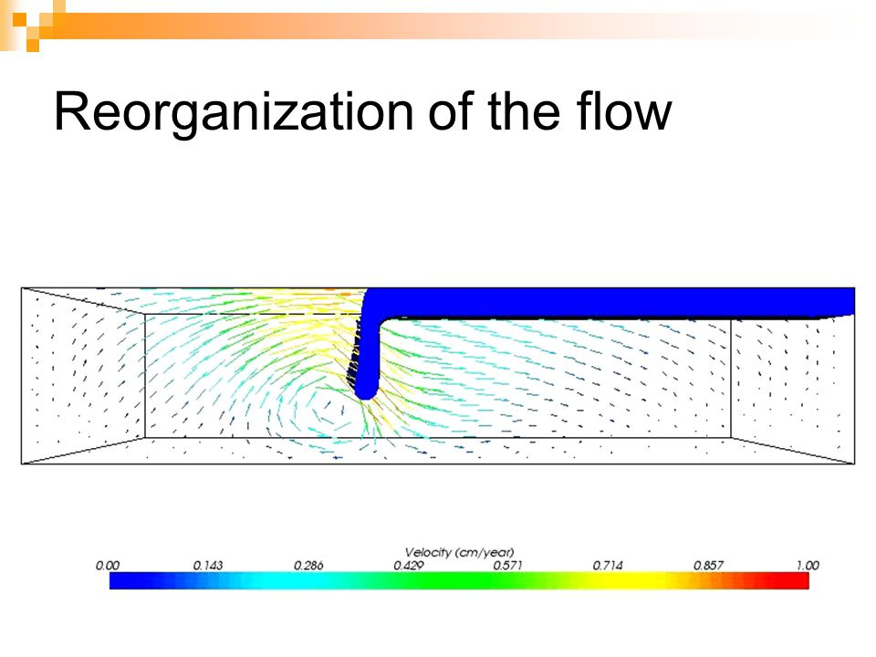 Reorganization of the flow
