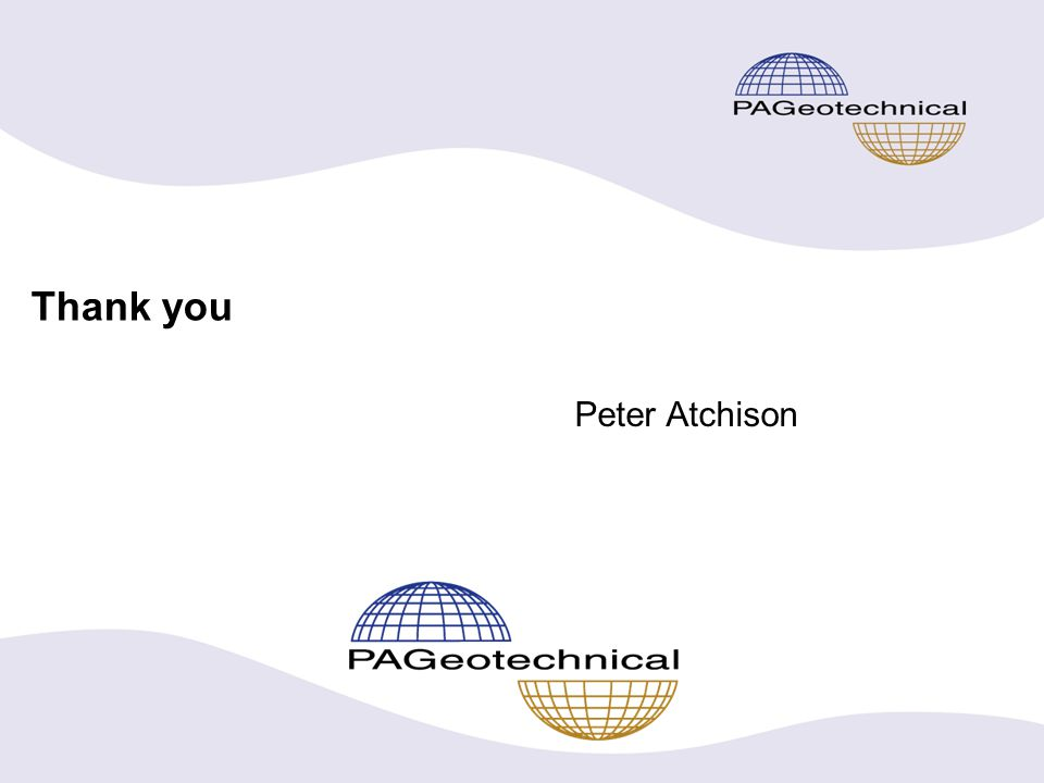 Thank you Peter Atchison