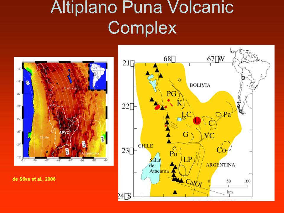 Altiplano Puna Volcanic Complex de Silva et al., 2006