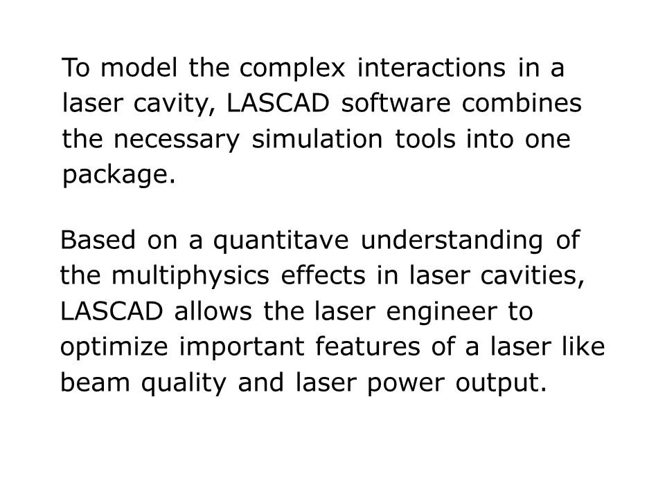 LASCAD  - The Laser Engineering Tool Example: Parabolic fit of the distribution of the refractive index