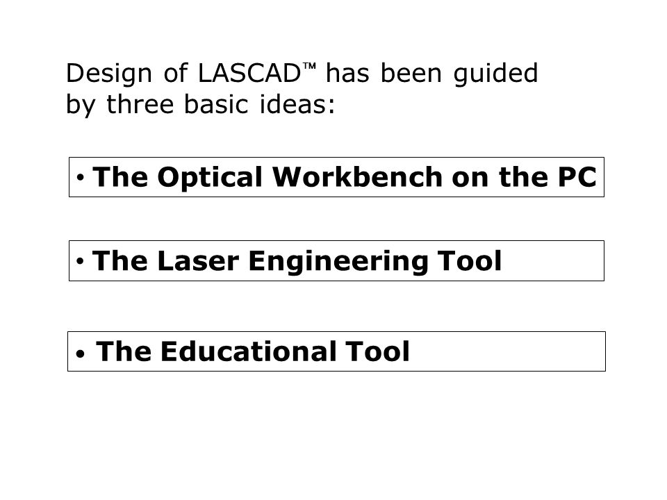 LASCAD  - The Laser Engineering Tool Example mode plot: Resonator with thermally lensing crystal between to external mirrors.