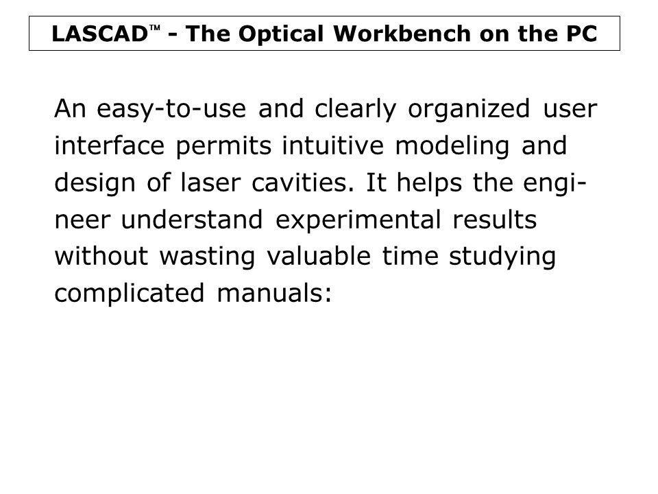 LASCAD  - The Laser Engineering Tool Side Pumped Rod Crystal Water Flow Tube Reflector Diode