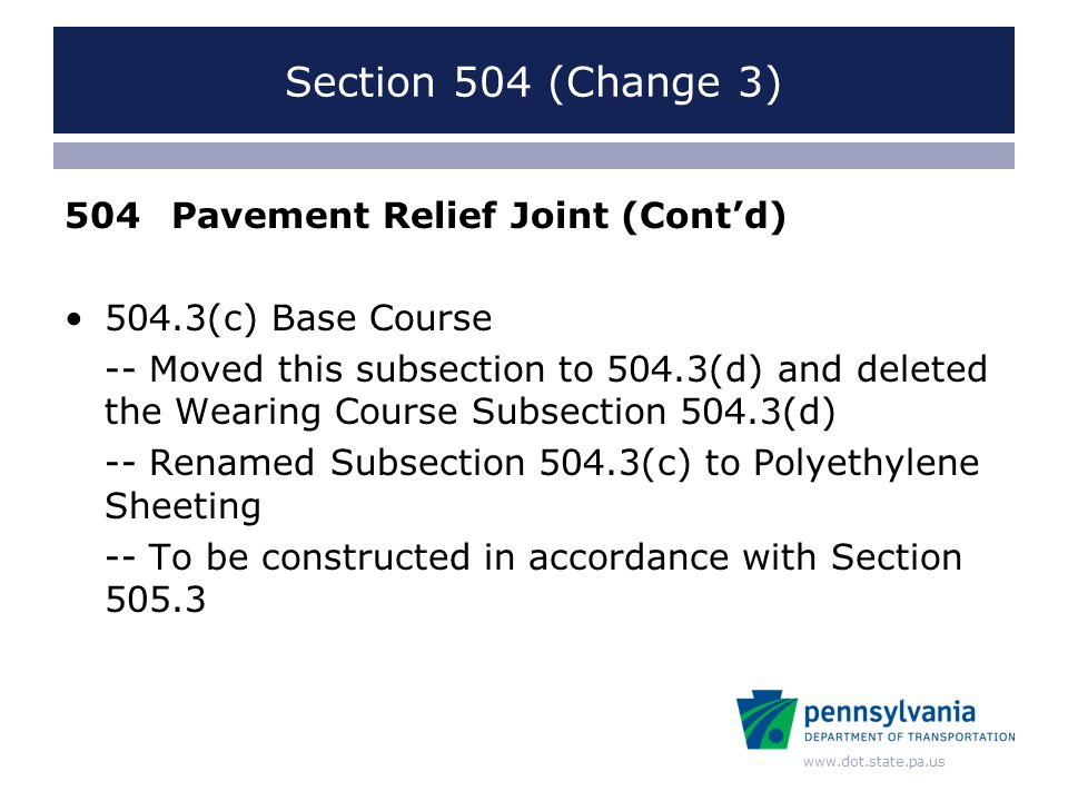 www.dot.state.pa.us RC-24M Pavement Relief Joint Pub. 72 Change 2 RC-24M, Sheets 1 & 3 (7/20/2007)