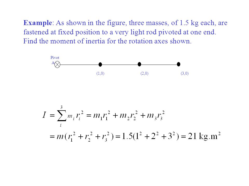 Example: Calculate the rotational inertia of a wheel that has a kinetic energy of 24, 400 J when rotating at 602 rev/min.