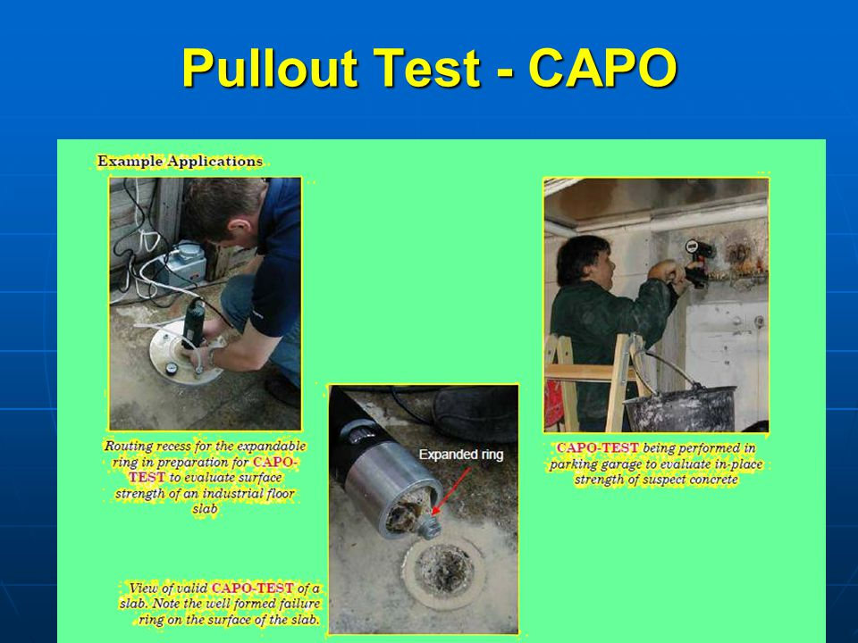 Pullout Test - CAPO