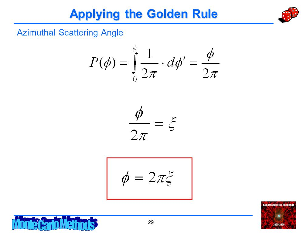 29 Applying the Golden Rule Azimuthal Scattering Angle