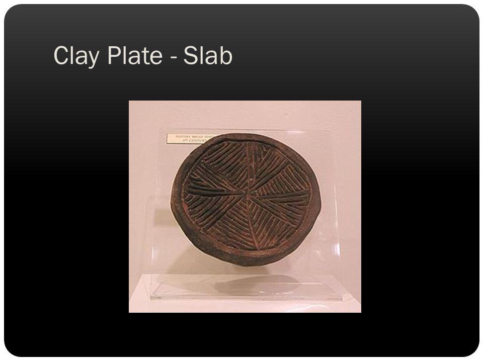 Clay Plate - Slab