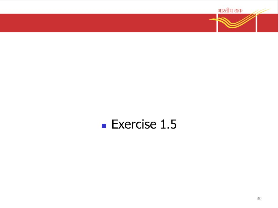 Exercise 1.5 30