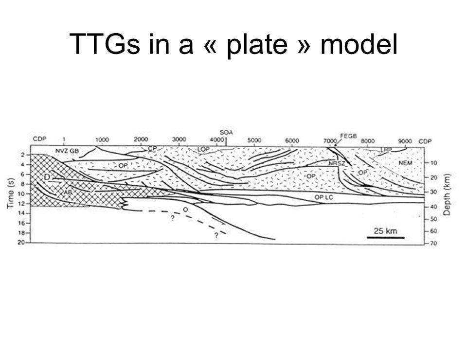 TTGs in a « plate » model