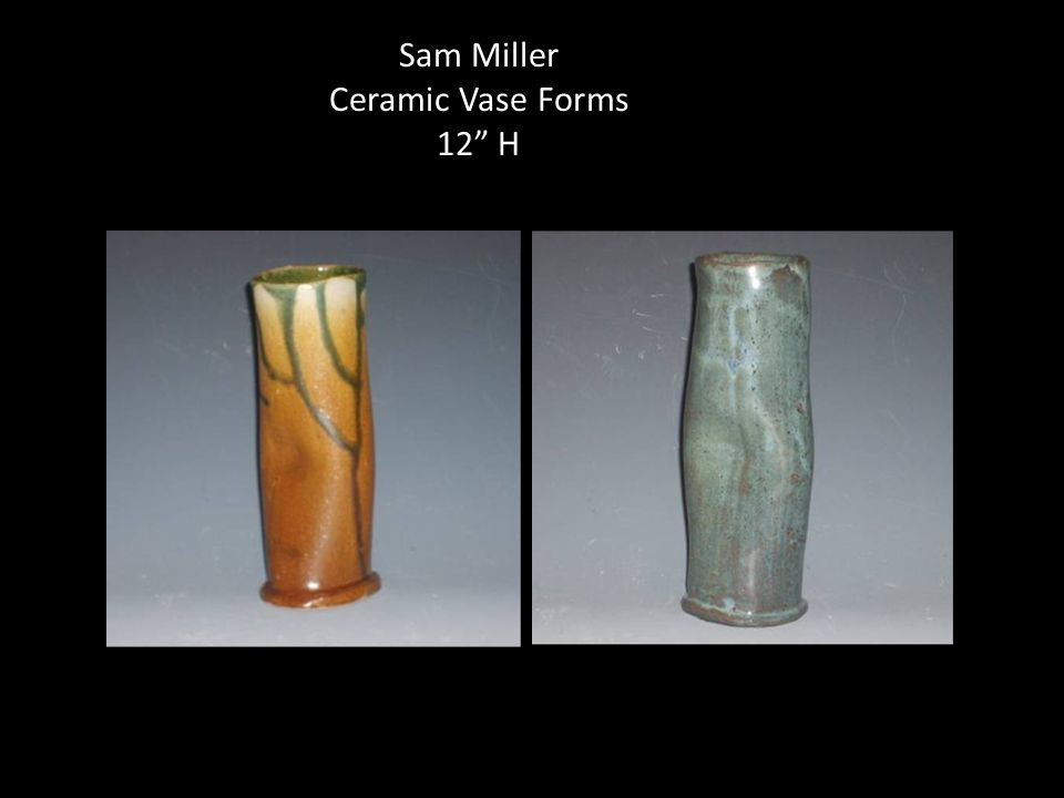 Sam Miller Ceramic Vase Forms 12 H