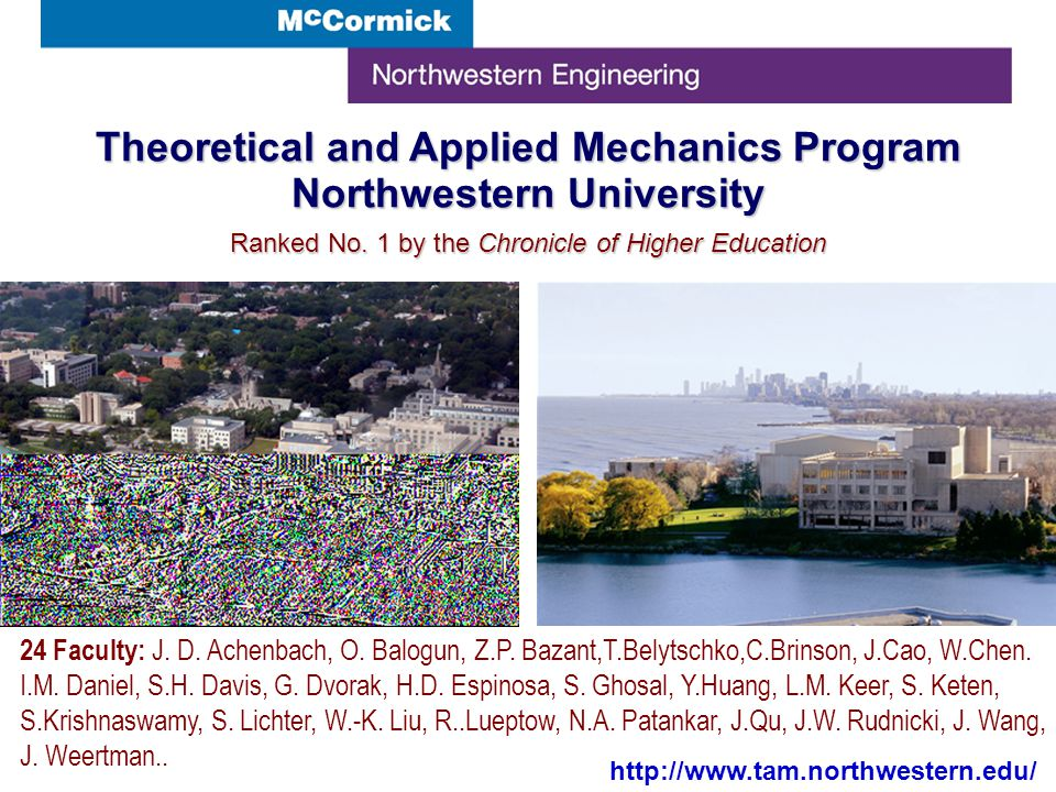 Theoretical and Applied Mechanics Program Northwestern University Ranked No.