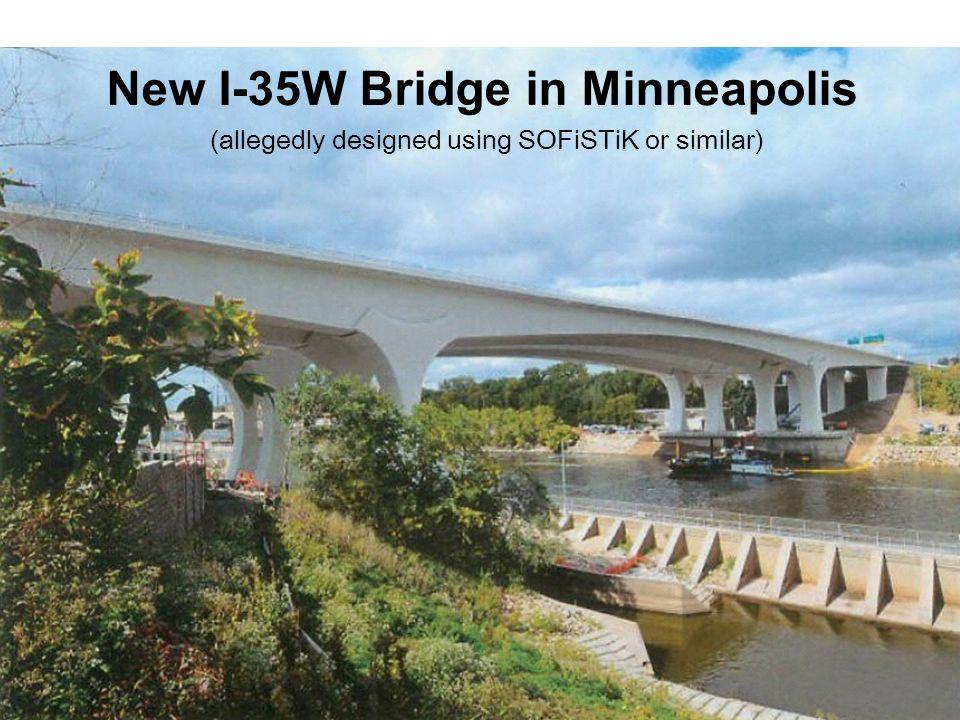 New I-35W Bridge in Minneapolis (allegedly designed using SOFiSTiK or similar)