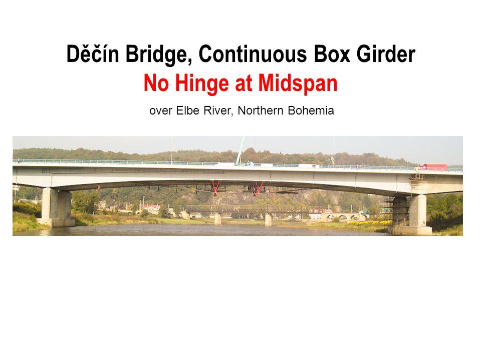 Děčín Bridge, Continuous Box Girder No Hinge at Midspan over Elbe River, Northern Bohemia