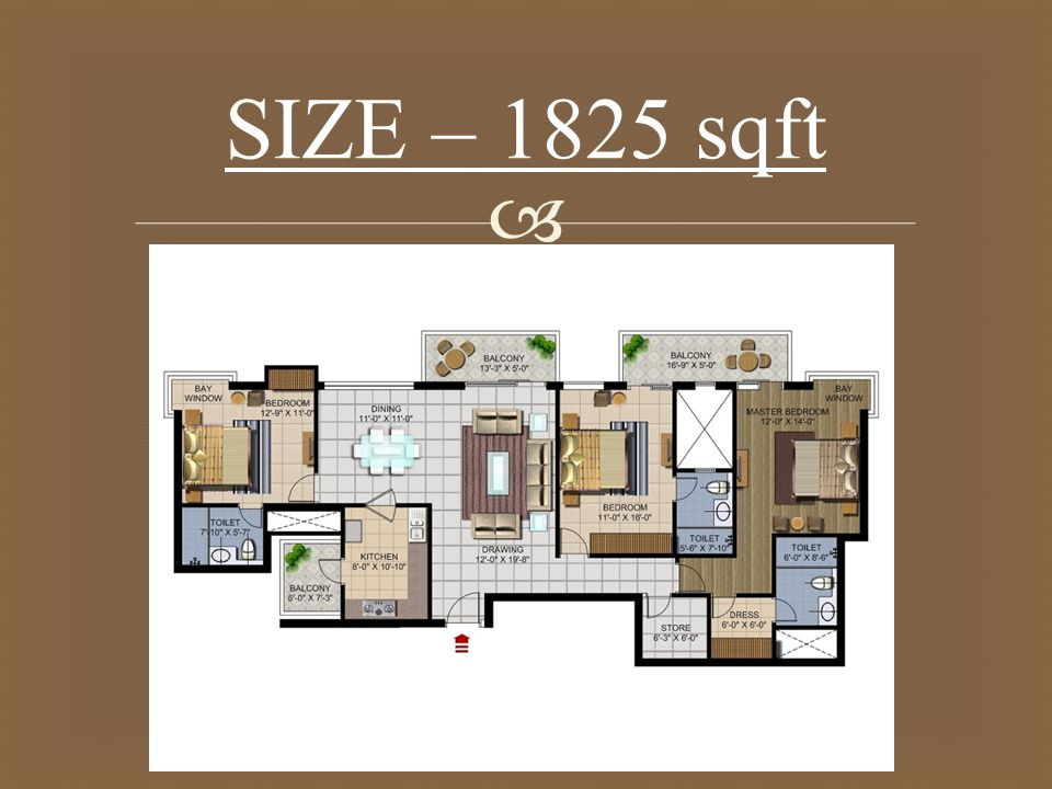  SIZE – 1825 sqft
