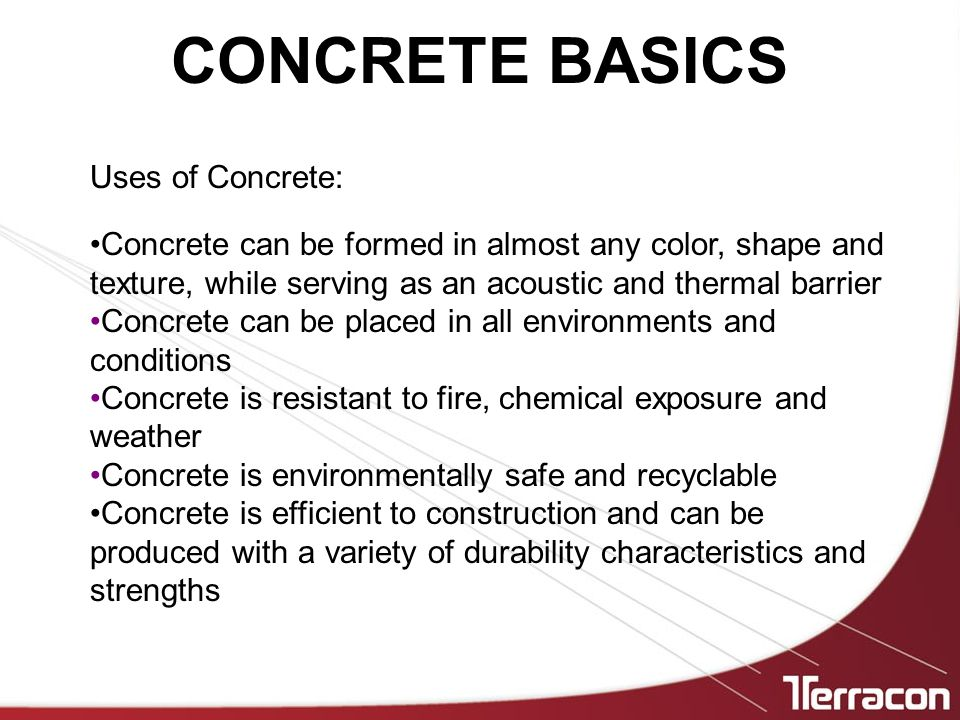 How Should Concrete Be Specified.