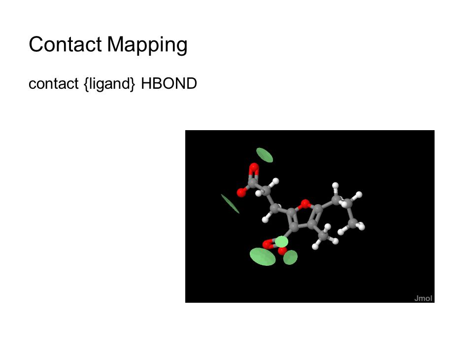 Contact Mapping contact {ligand} HBOND