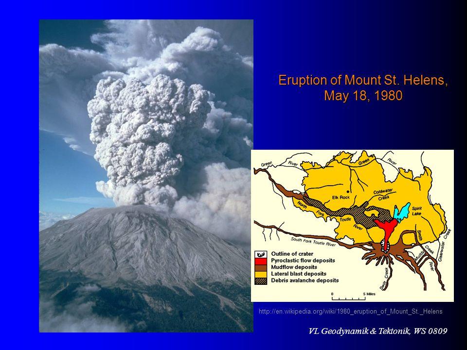 VL Geodynamik & Tektonik, WS 0809 Eruption of Mount St.