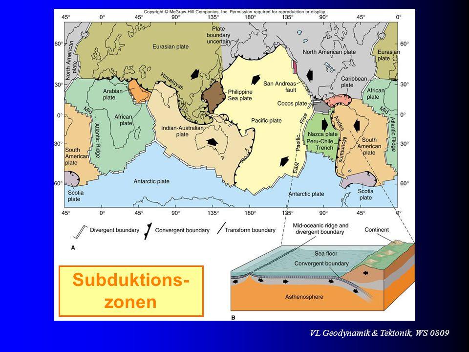 VL Geodynamik & Tektonik, WS 0809 Subduktions- zonen
